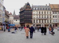Timberframe houses along Strasbourg´s Cathedral